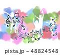 音楽 楽譜 譜面 五線譜 音符 ト音記号 ミュージック 48824548