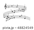 音楽 楽譜 譜面 五線譜 音符 ト音記号 ミュージック 48824549