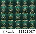 グリーン 緑色 アニバーサリーのイラスト 48825087