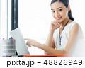 女性 笑顔 ビジネスの写真 48826949
