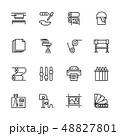 プリント アイコン セットのイラスト 48827801
