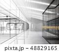 sketch design of interior hall, 3d rendering 48829165