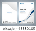 Abstract blue line color modern brochure template. 48830185