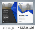 Abstract business brochure of blue template layout 48830186