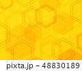 Abstract technology yellow hexagon pattern modern 48830189