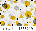 Abstract geometric yellow black colors pattern 48830191
