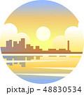 海岸 日ざし 日なたのイラスト 48830534