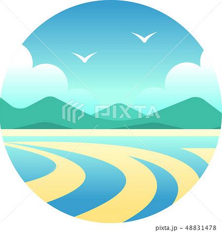 Whitsunday islands gradient illustration 48831478
