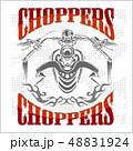 バイカー シンボルマーク ロゴのイラスト 48831924
