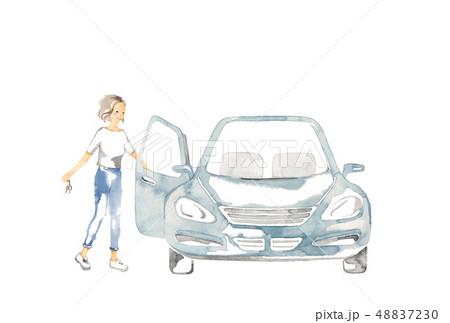 車でおでかけ、女性1人 48837230