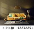 ソファ ソファー 長椅子のイラスト 48838851