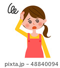 主婦 体調不良 眩暈のイラスト 48840094