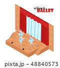 バレエ バレー バレリーナのイラスト 48840573