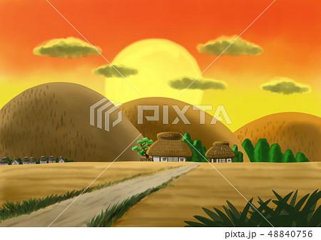 田舎の夕焼け 48840756