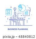 ビジネス 商売 ビジネスマンのイラスト 48840812