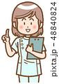 女性 ナース カルテのイラスト 48840824