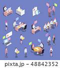 Recruitment Isometric People Set 48842352