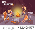 Tribe In Cave Background 48842457