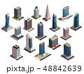 Urban Skyscrapers Isometric Set 48842639