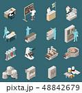 Pharmaceutical Production Isometric Icon Set 48842679