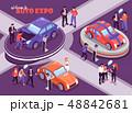 Auto Expo Isometric Composition 48842681