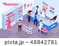 Pharmacy Isometric Indoor Background 48842781