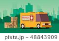車 自動車 貨車のイラスト 48843909