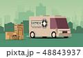 車 自動車 貨車のイラスト 48843937