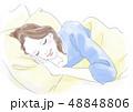 女性 眠る 睡眠のイラスト 48848806