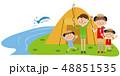 ポップな家族 キャンプ 釣り 48851535