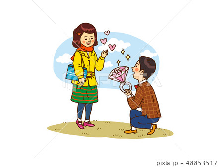 Vector - Funny vector cartoon colorfull boy and girl, retro style illustration. 002 48853517