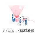 電球 球根 球のイラスト 48853645