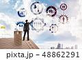 ネットワーク ビジネスマン 通信の写真 48862291