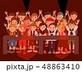 フェス観客前列18人黒バック 48863410