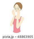 女性 美容 スキンケアのイラスト 48863905