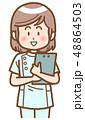 女性 ナース 看護師のイラスト 48864503