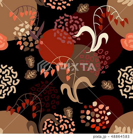 Floral mosaic print.  48864583