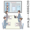 男性 女性 会議のイラスト 48866299