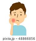 虫歯 痛い 腫れるのイラスト 48866856