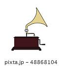 音楽 アイコン 蓄音機のイラスト 48868104