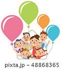 三世代家族 家 風船 48868365