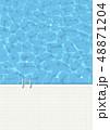プール プールサイド 俯瞰のイラスト 48871204