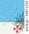 プール-夏-タイル-プールサイド-バカンス 48871205