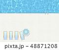 プール-夏-タイル-プールサイド-バカンス-パラソル 48871208