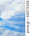 空 くも 雲のイラスト 48873268