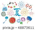 夏の水彩セット 48873611