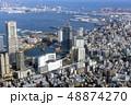 横浜の桜木町駅付近を空撮 48874270