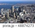 横浜の桜木町駅付近を空撮 48874273