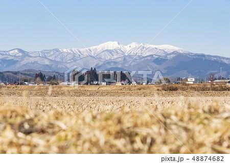 蔵王山と釜房湖 48874682