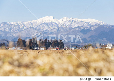 蔵王山と釜房湖 48874683
